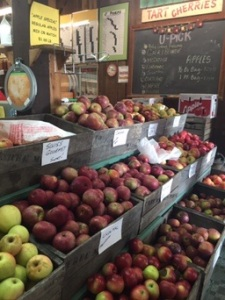 Apples in the farm market