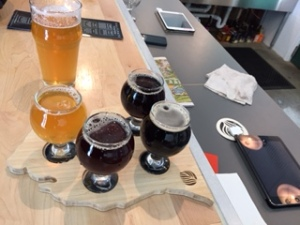 A beer flight at cultivate.