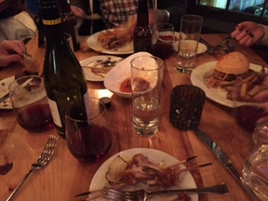 Dinner at LSK---burgers, wings, charcuterie---oh my!