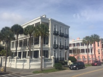The mansions along the Battery in Charleston