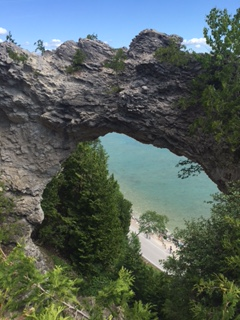 Arch Rock on Mackinac